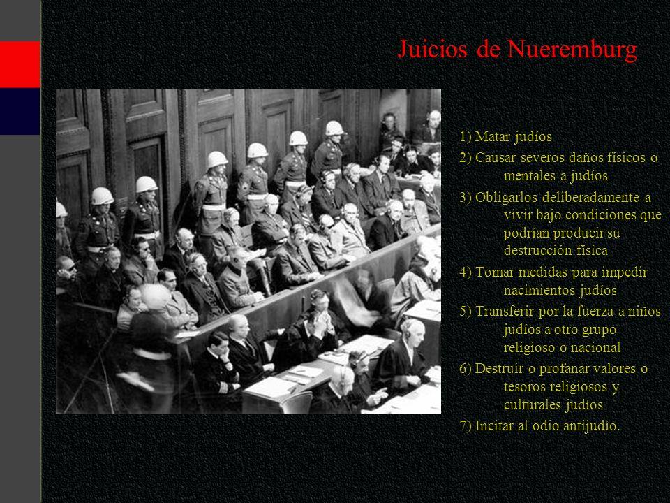 Juicios de Nueremburg 1) Matar judíos