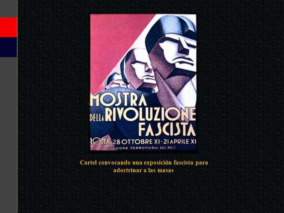 Cartel convocando una exposición fascista para