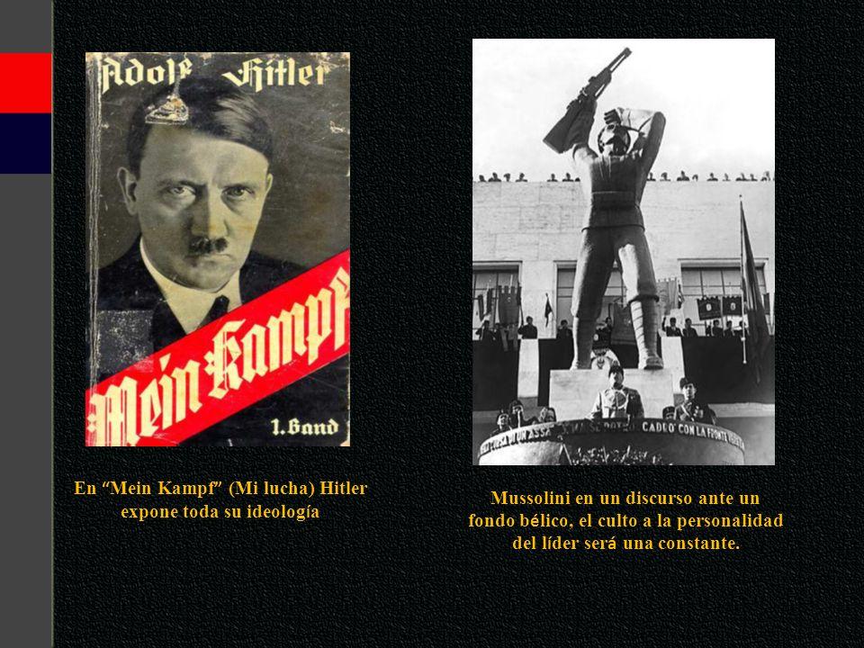 En Mein Kampf (Mi lucha) Hitler expone toda su ideología