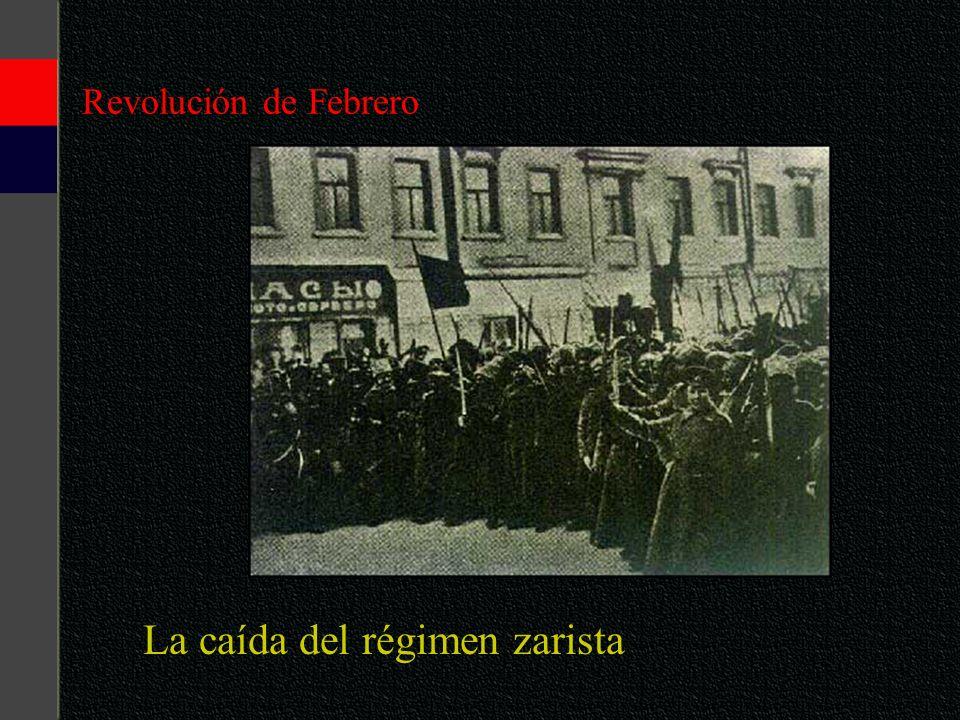La caída del régimen zarista