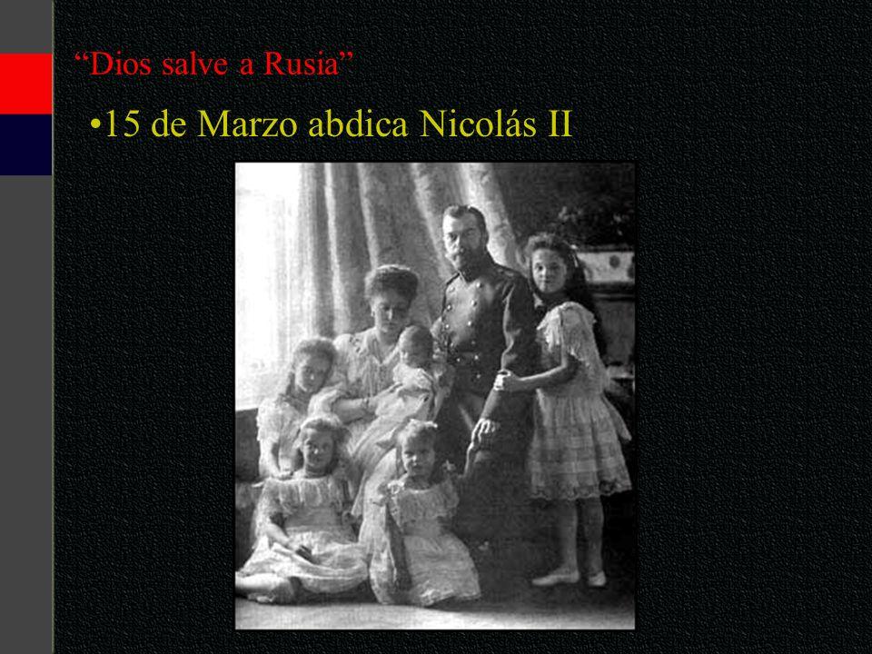 15 de Marzo abdica Nicolás II