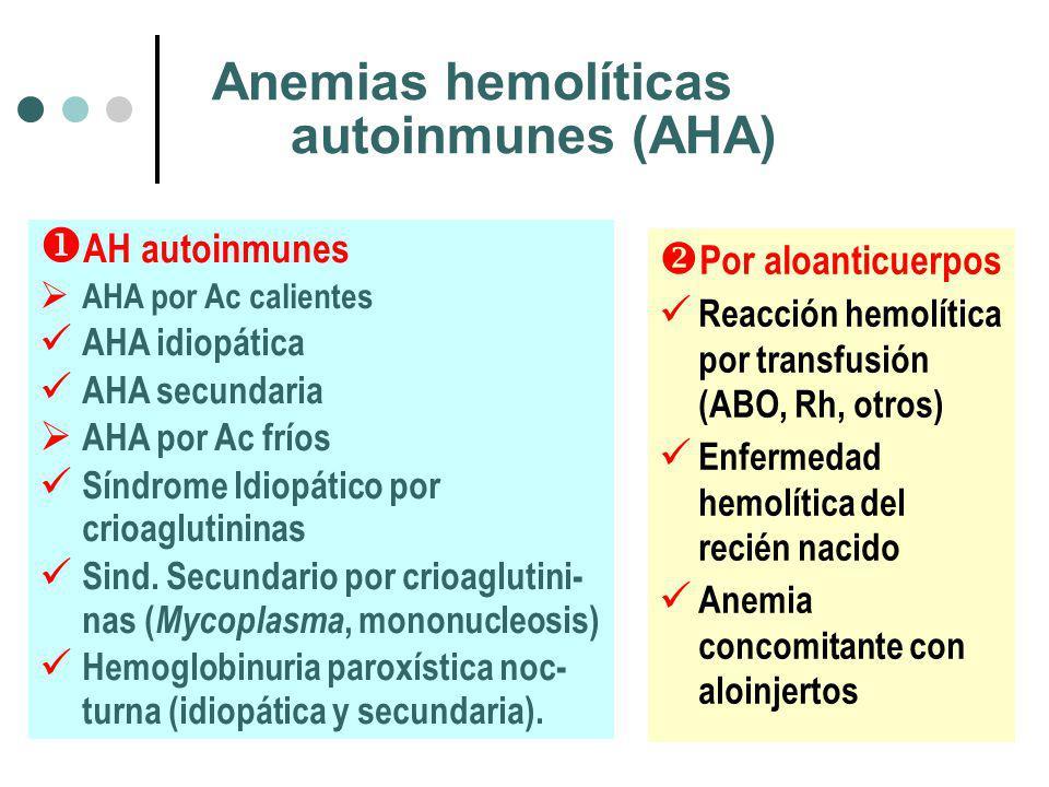 Anemias hemolíticas autoinmunes (AHA)