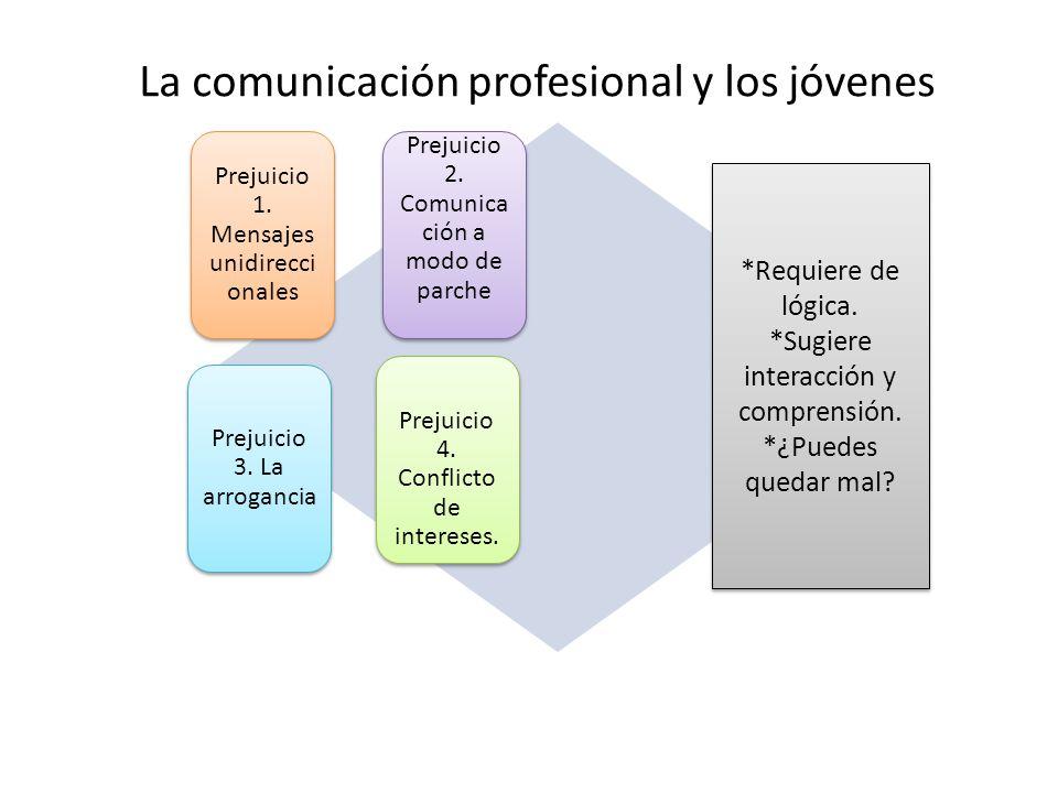La comunicación profesional y los jóvenes