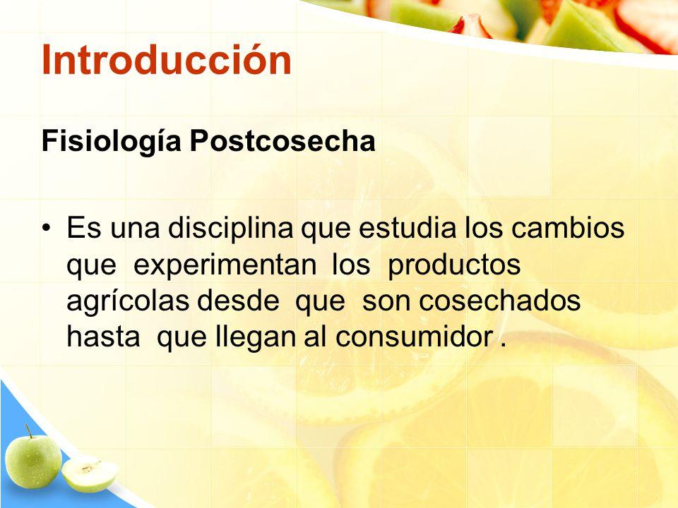 Introducción Fisiología Postcosecha