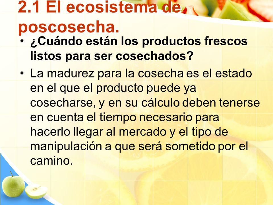 2.1 El ecosistema de poscosecha.