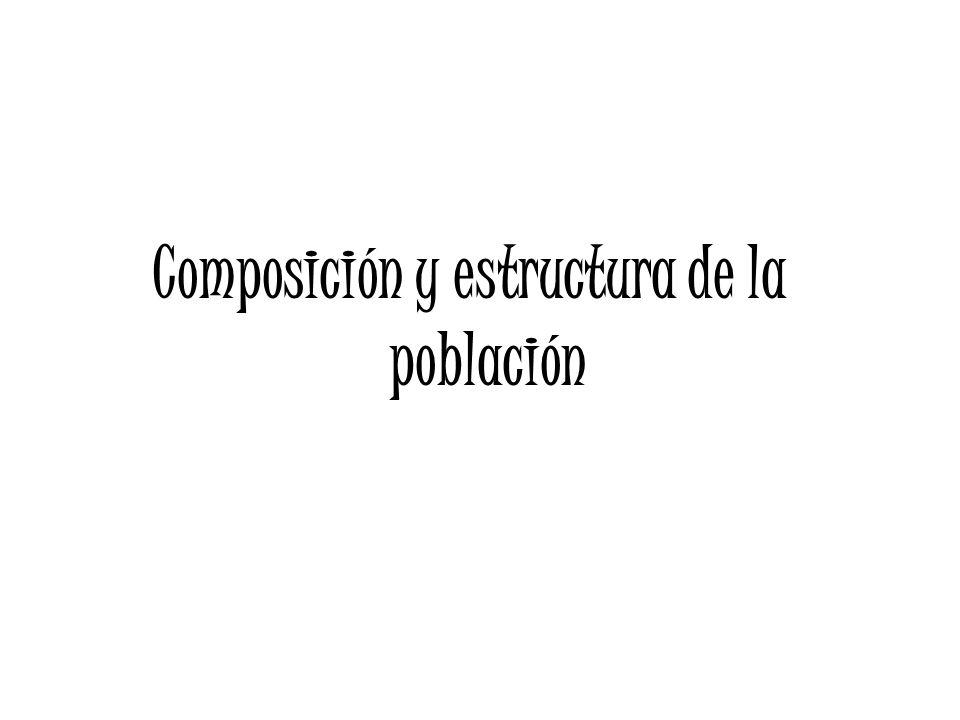 Composición y estructura de la población