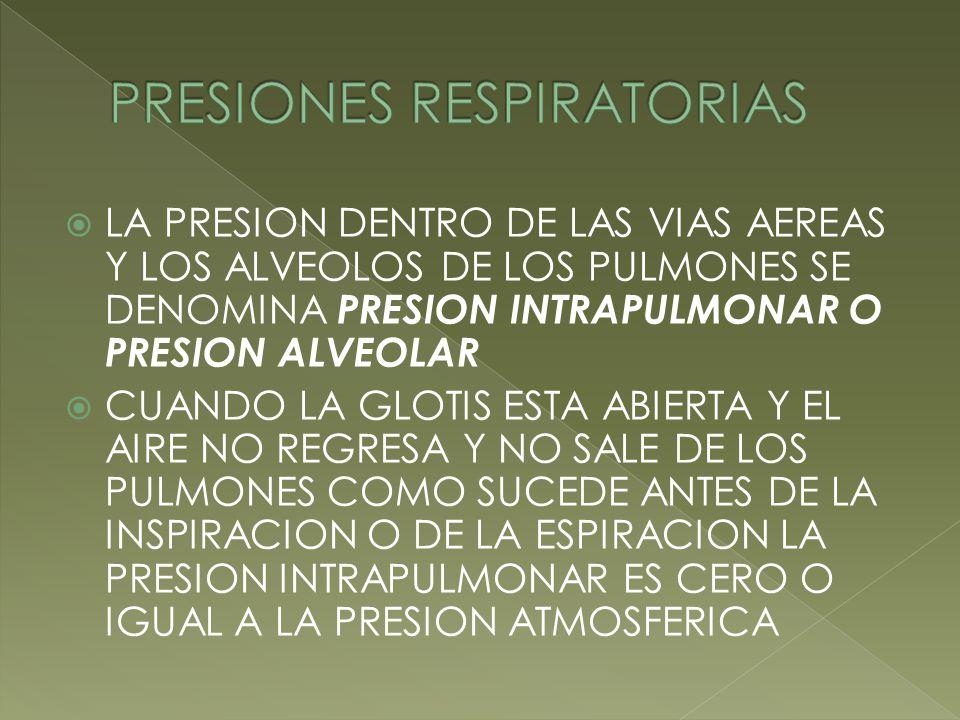 PRESIONES RESPIRATORIAS