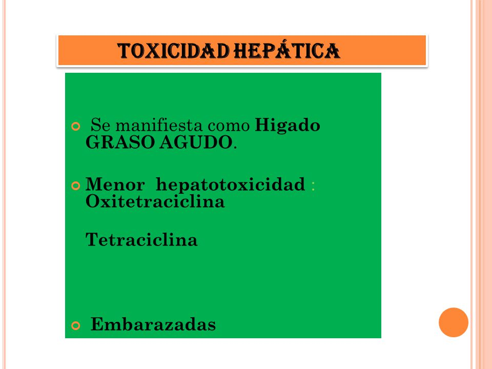 TOXICIDAD HEPATICA Toxicidad hepática