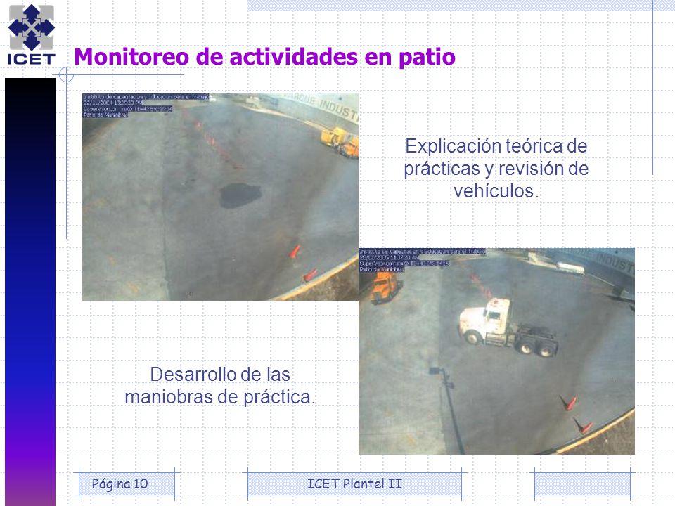 Monitoreo de actividades en patio