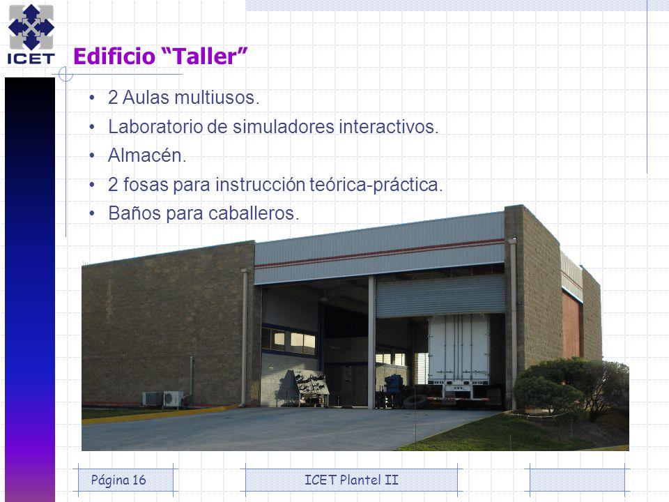 Edificio Taller • 2 Aulas multiusos.