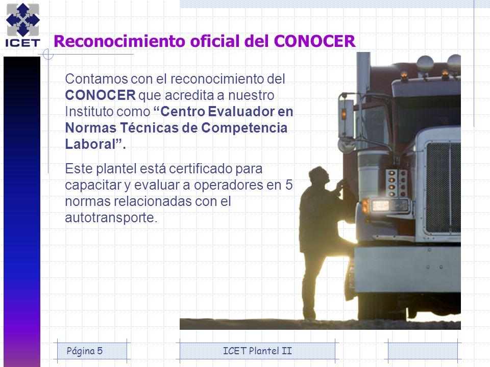 Reconocimiento oficial del CONOCER
