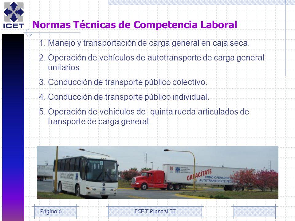 Normas Técnicas de Competencia Laboral
