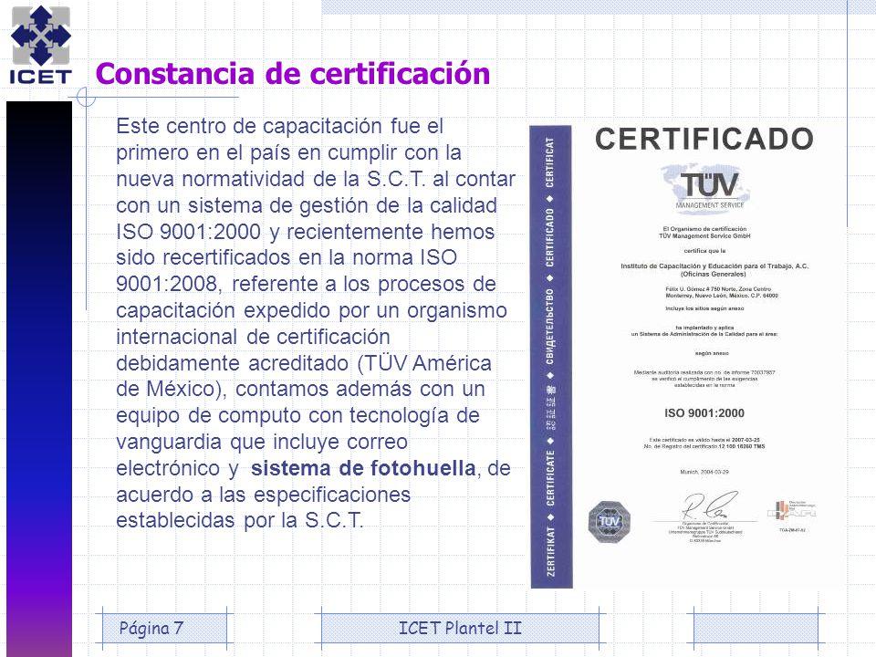 Constancia de certificación