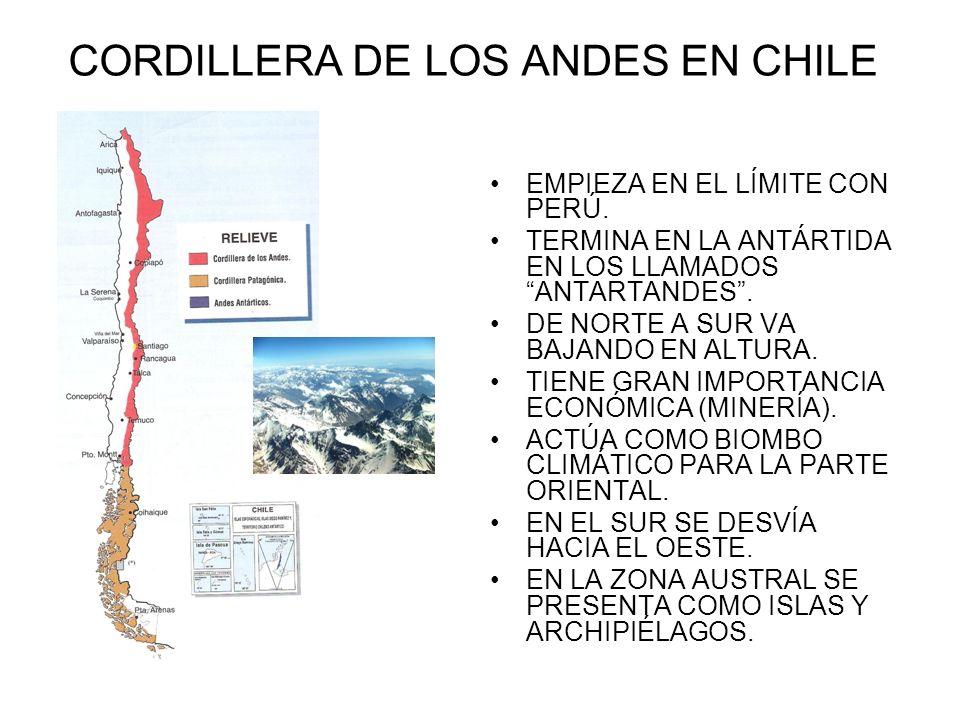 CORDILLERA DE LOS ANDES EN CHILE