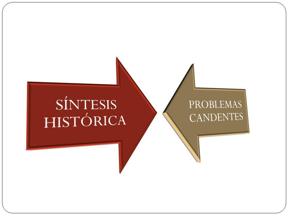 SÍNTESIS HISTÓRICA PROBLEMAS CANDENTES