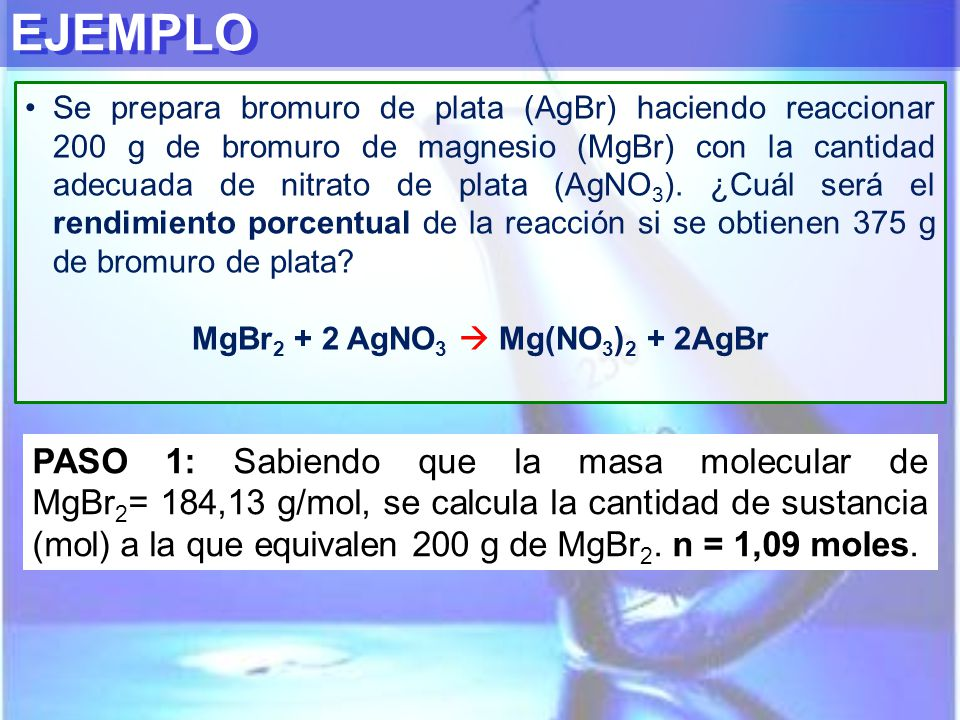 MgBr2 + 2 AgNO3  Mg(NO3)2 + 2AgBr