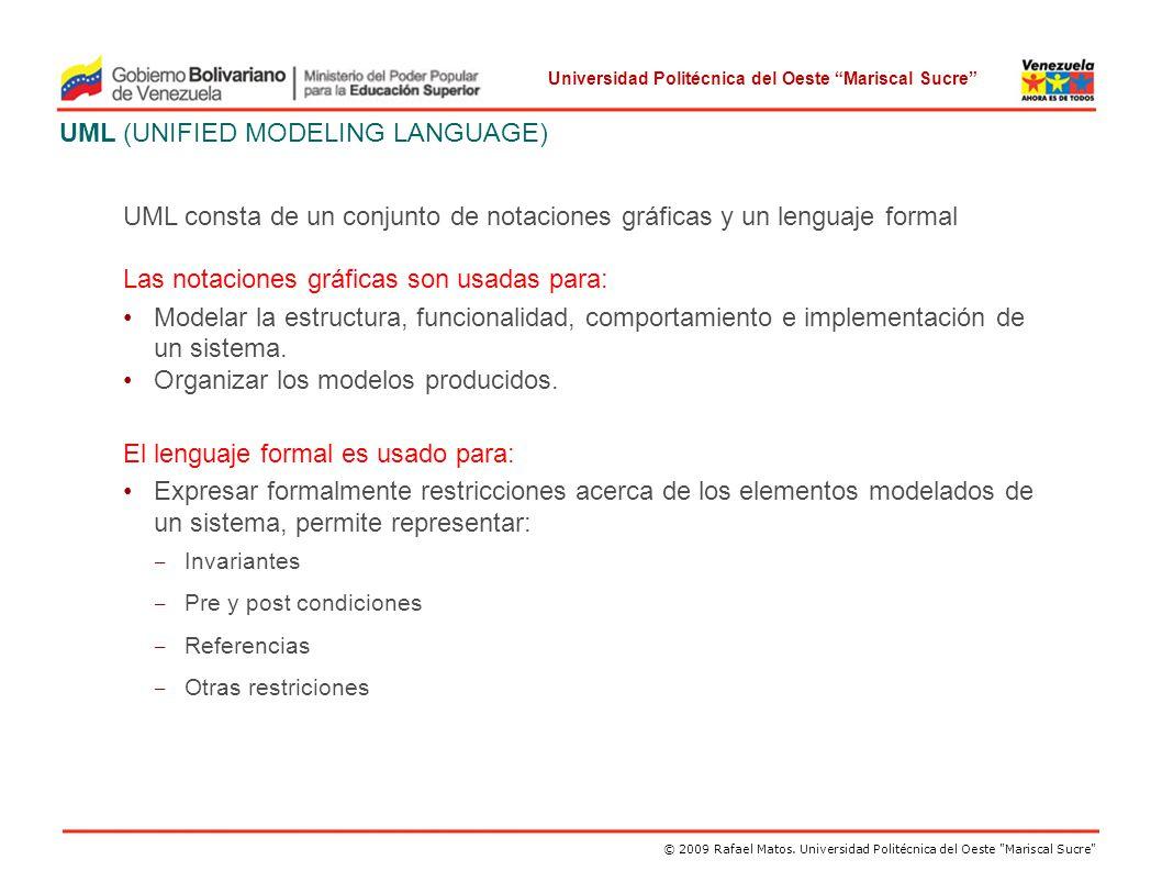 UML (UNIFIED MODELING LANGUAGE)