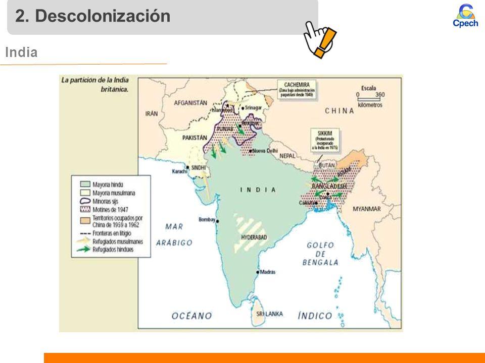 2. Descolonización India 10 10 10