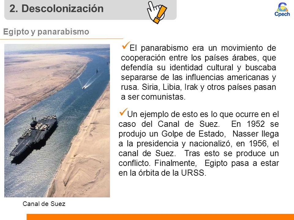 2. Descolonización Egipto y panarabismo