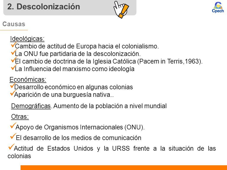 2. Descolonización Causas Ideológicas: