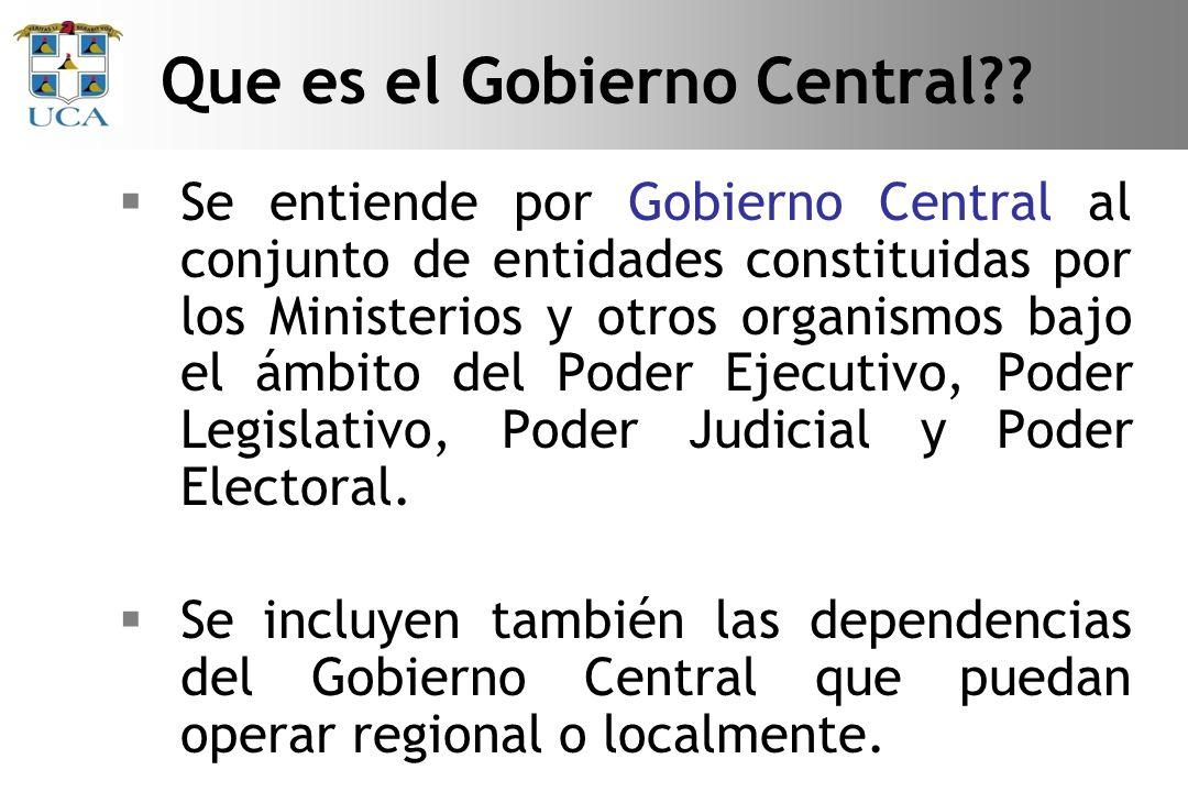 Que es el Gobierno Central
