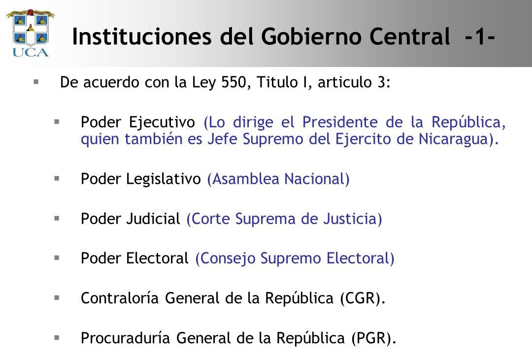 Instituciones del Gobierno Central -1-