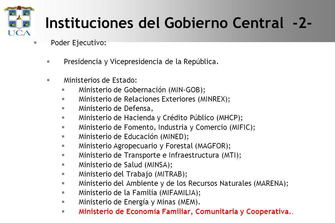 Instituciones del Gobierno Central -2-