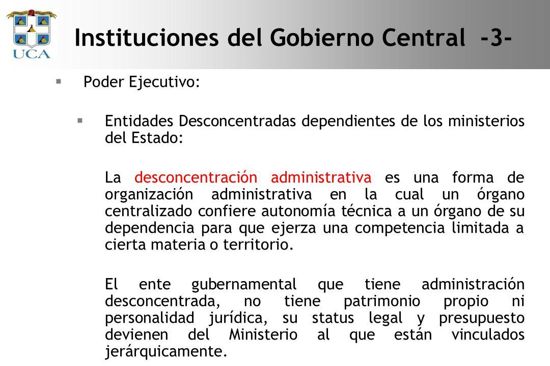 Instituciones del Gobierno Central -3-