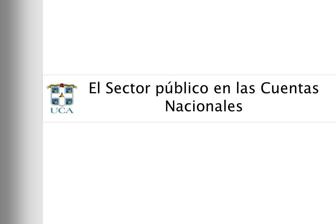 El Sector público en las Cuentas Nacionales