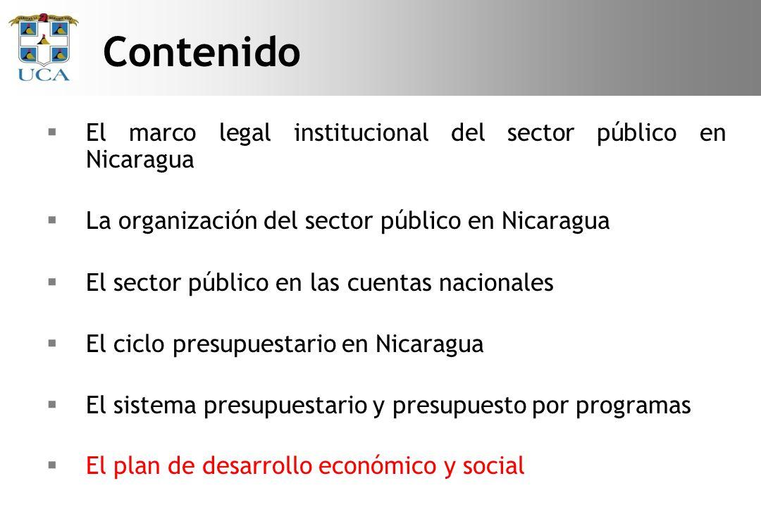 Contenido El marco legal institucional del sector público en Nicaragua