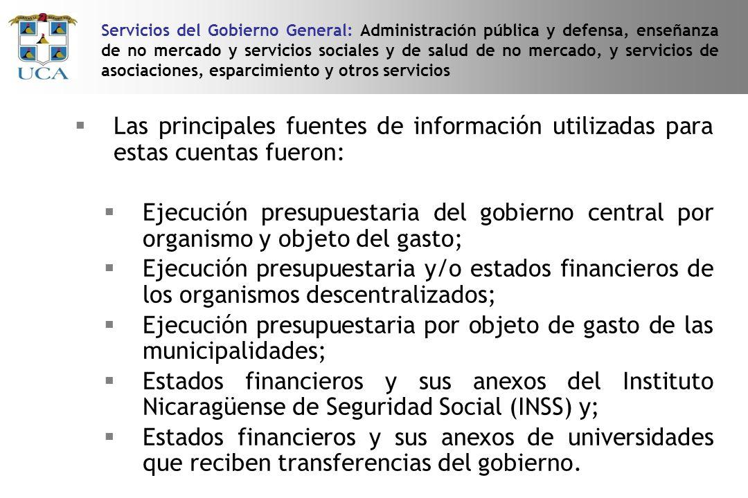 Ejecución presupuestaria por objeto de gasto de las municipalidades;