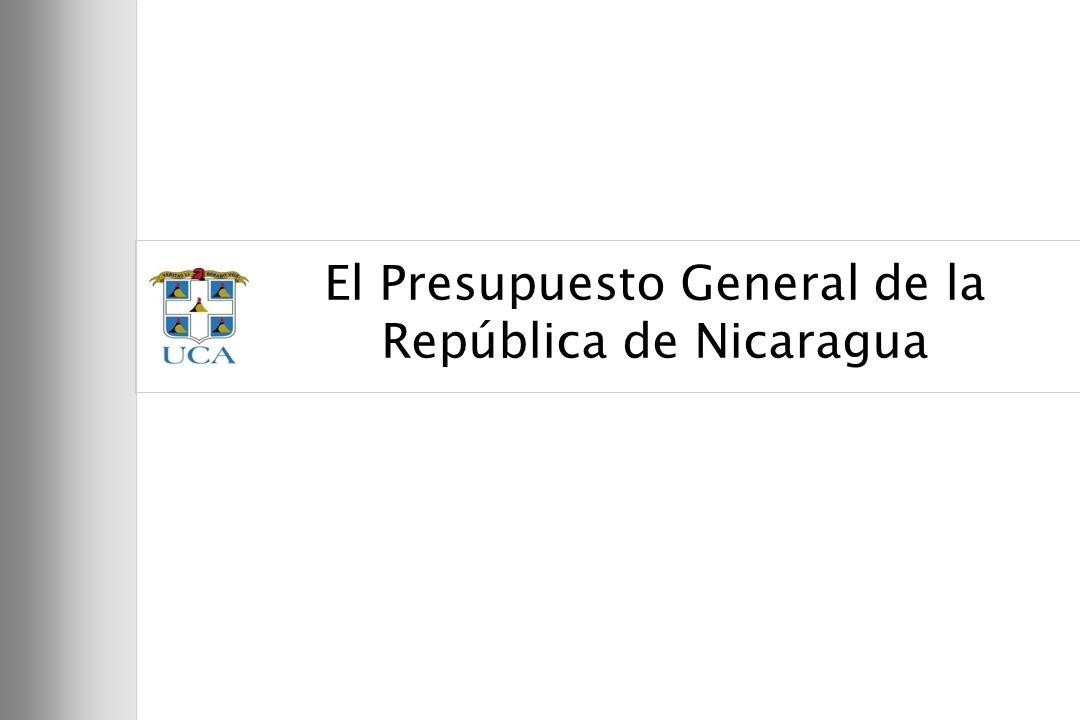 El Presupuesto General de la República de Nicaragua
