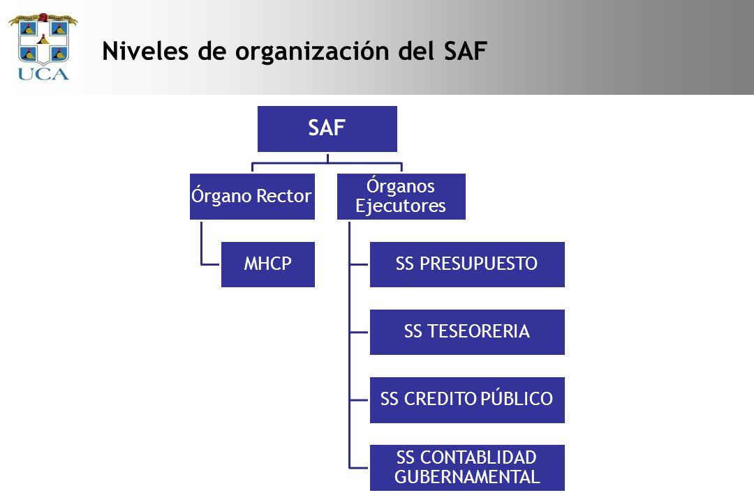 Niveles de organización del SAF