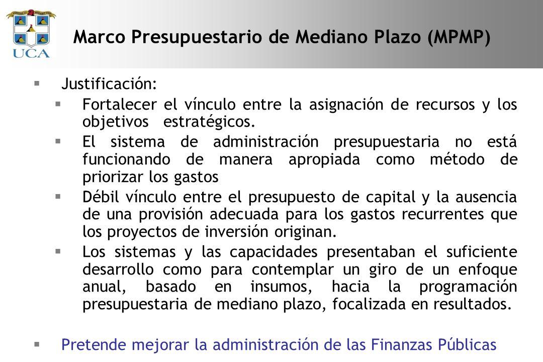 Marco Presupuestario de Mediano Plazo (MPMP)