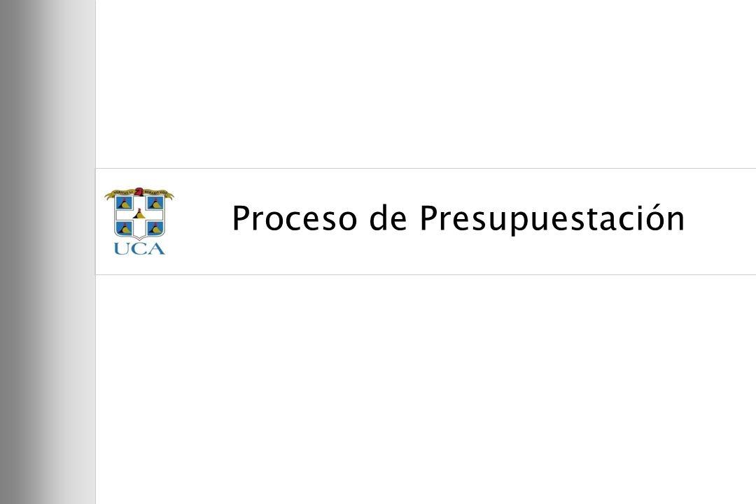 Proceso de Presupuestación