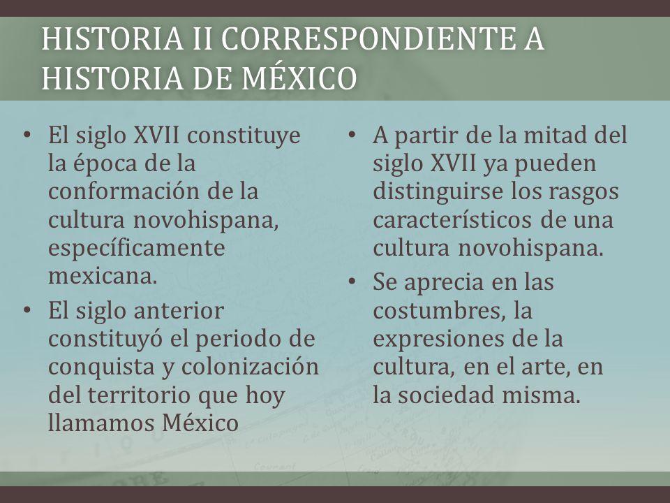 Historia II correspondiente a historia de México