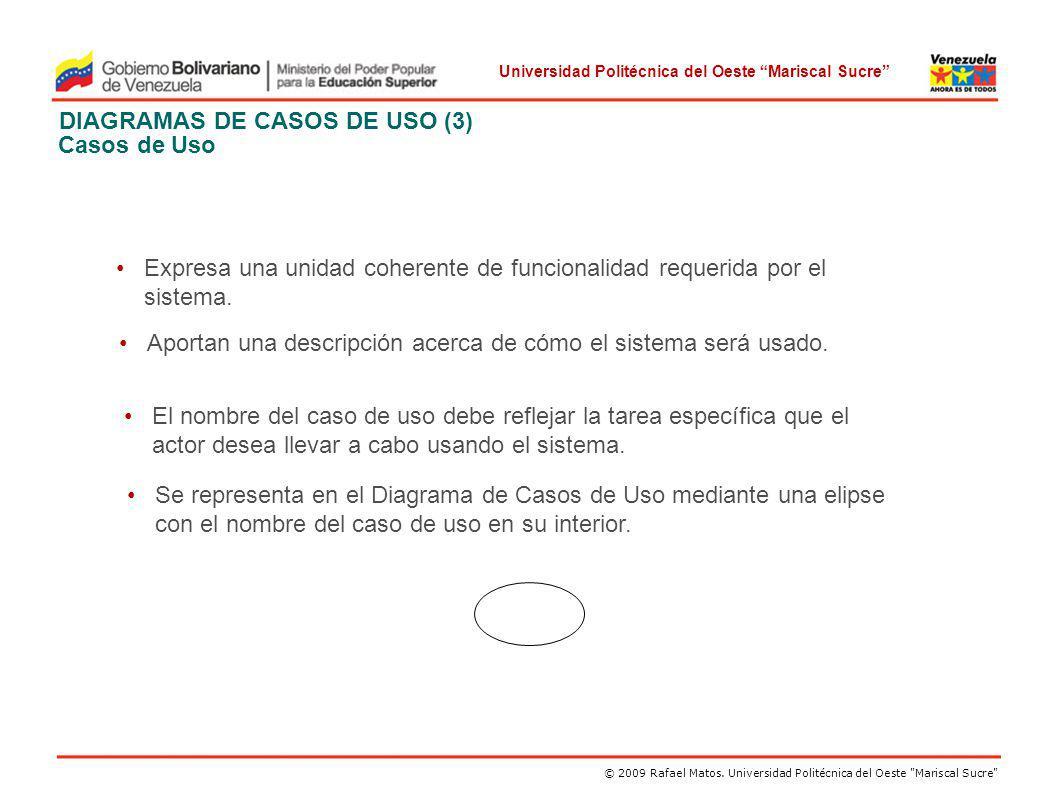DIAGRAMAS DE CASOS DE USO (3) Casos de Uso
