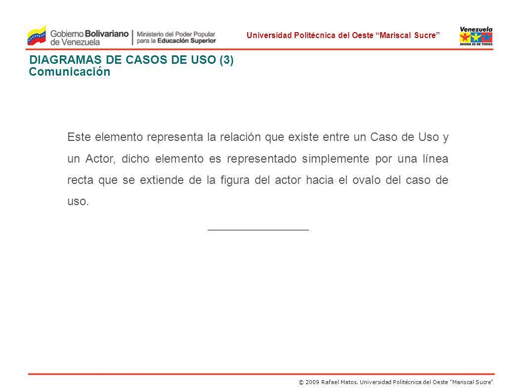 DIAGRAMAS DE CASOS DE USO (3) Comunicación