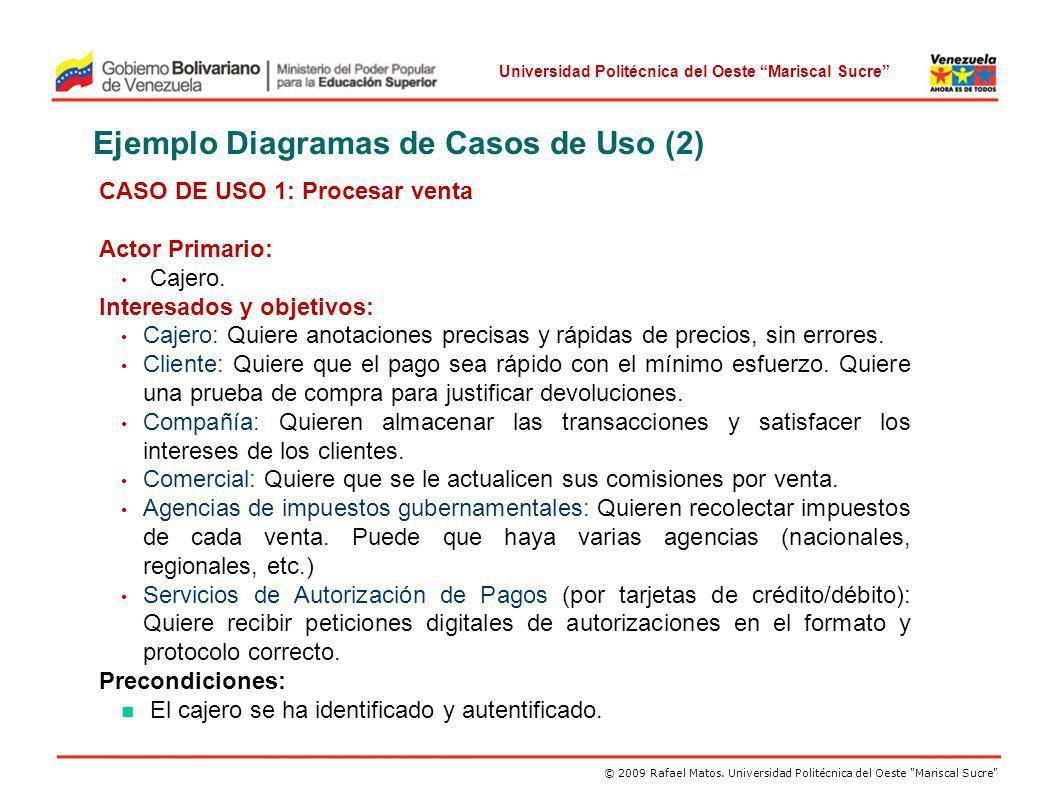 Ejemplo Diagramas de Casos de Uso (2)