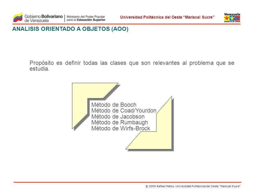 ANALISIS ORIENTADO A OBJETOS (AOO)