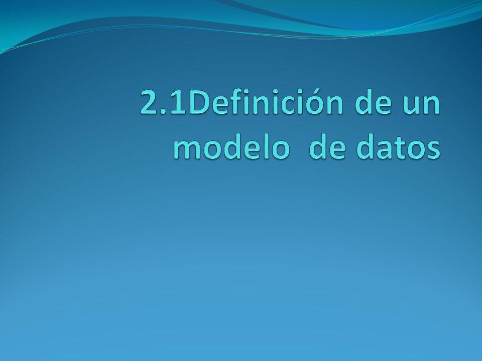 2.1Definición de un modelo de datos
