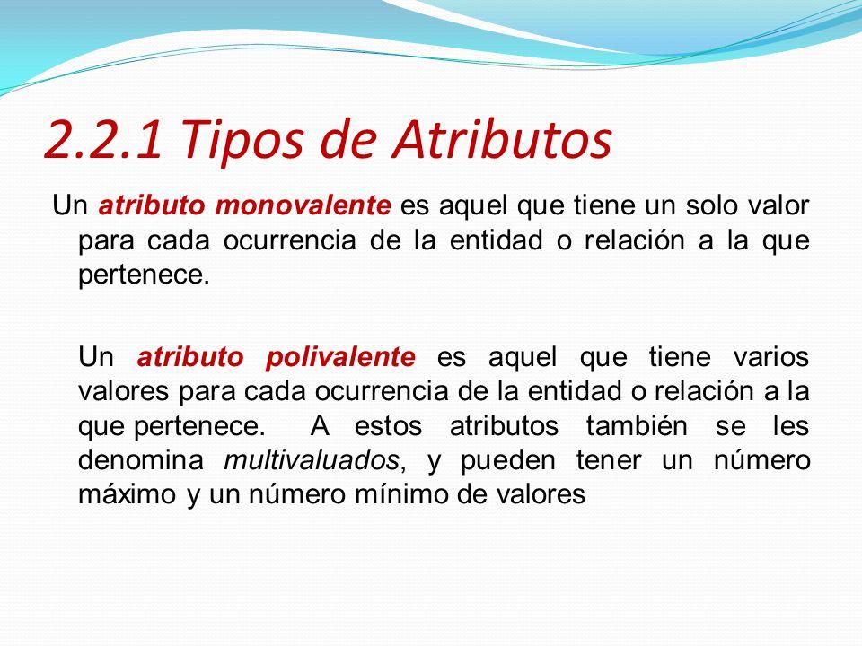 2.2.1 Tipos de Atributos