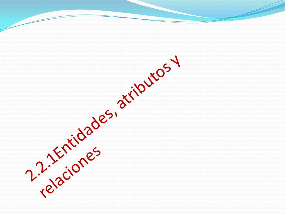 2.2.1Entidades, atributos y relaciones