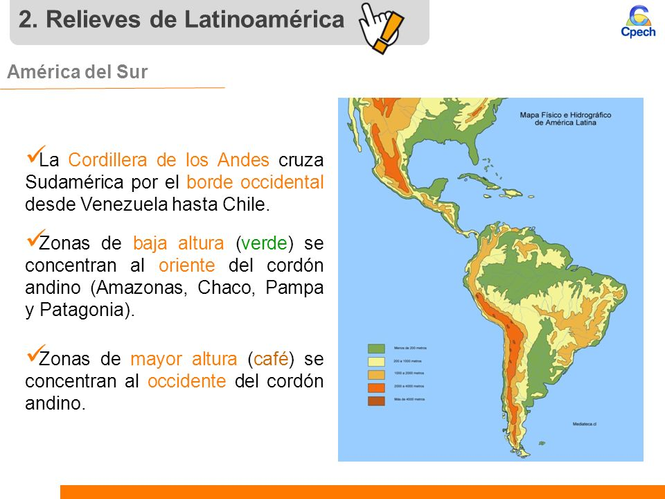 2. Relieves de Latinoamérica