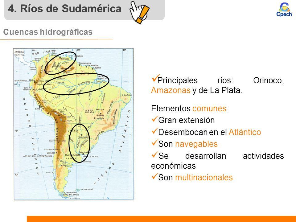 4. Ríos de Sudamérica Cuencas hidrográficas