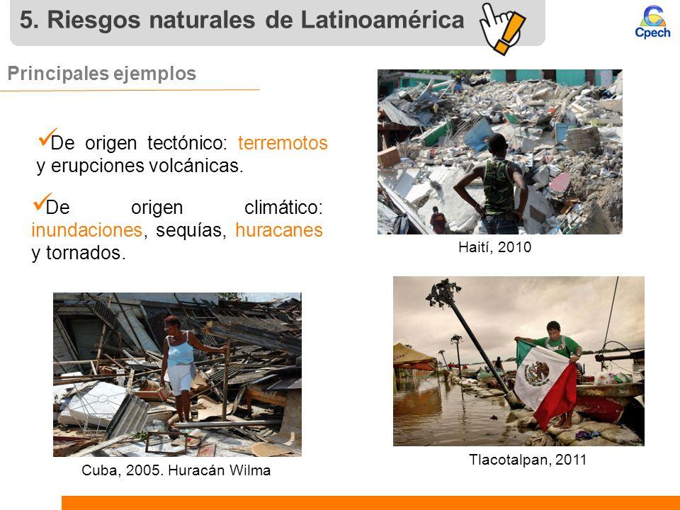 5. Riesgos naturales de Latinoamérica