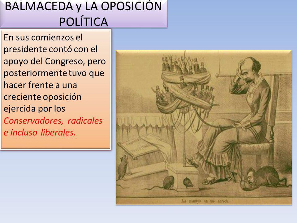 BALMACEDA y LA OPOSICIÓN POLÍTICA