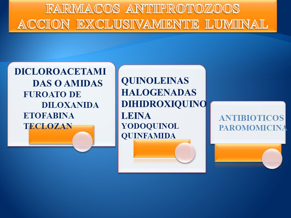 FARMACOS ANTIPROTOZOOS ACCION EXCLUSIVAMENTE LUMINAL