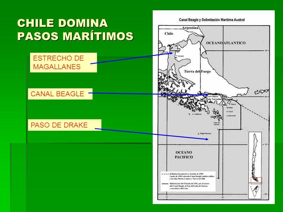 CHILE DOMINA PASOS MARÍTIMOS