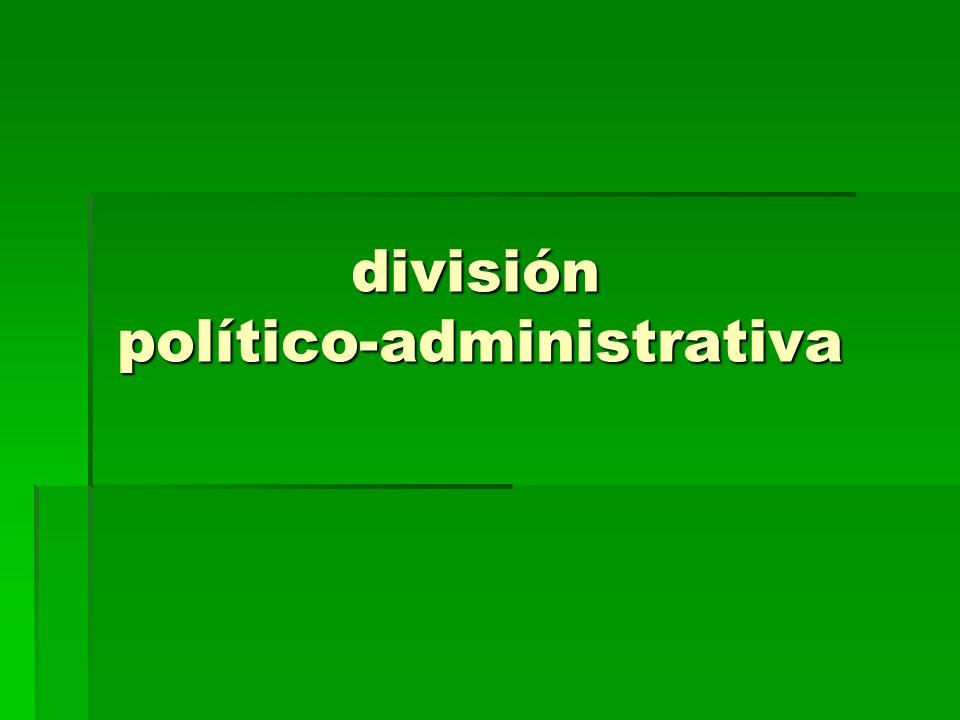 división político-administrativa